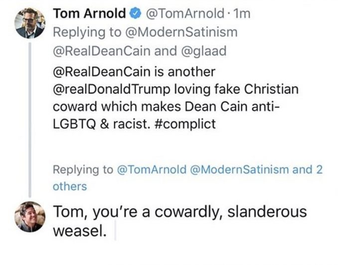 Liberal Hack Tom Arnold Gets In Conservative Actor Dean Cain's Face — Big Mistake