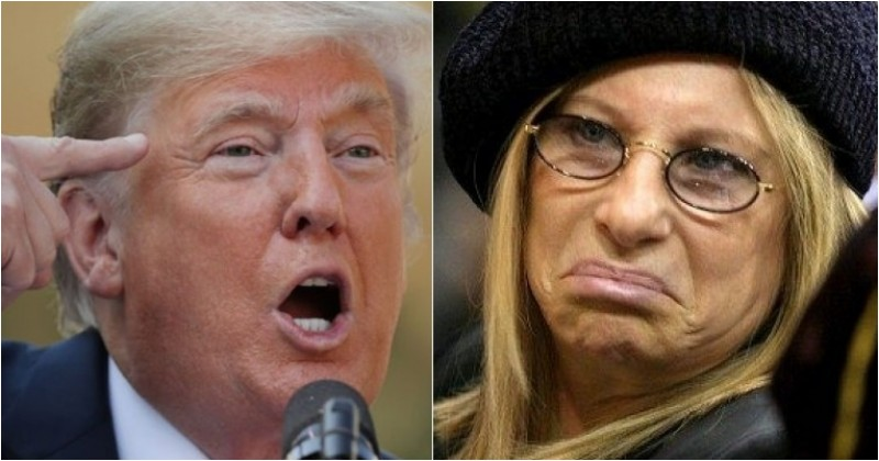 Streisand Says Trump Wants Immoral Wall To Erase Obama's Legacy, Gets Destroyed