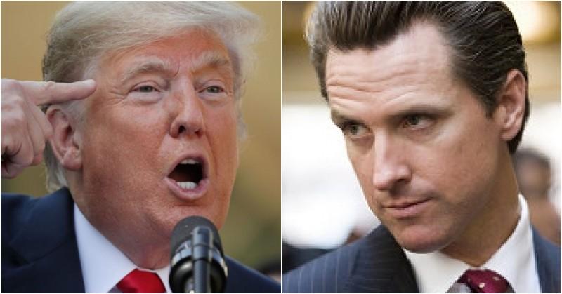 CA Gov. Newsom Not Sending $3.5B Back To Trump, POTUS Shows Him Who's Boss